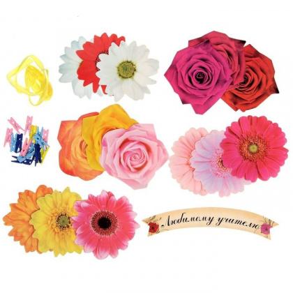 Фигурные бланки для пожеланий {amp}quot;Любимому учителю{amp}quot;, 15 штук Подарок учителю