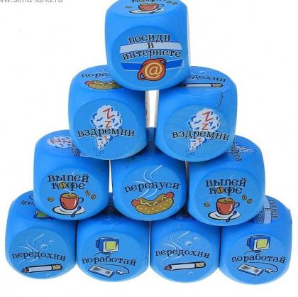 Корпоративные подарки офисные Набор кубиков гадальных {amp}quot;Офисные{amp}quot;