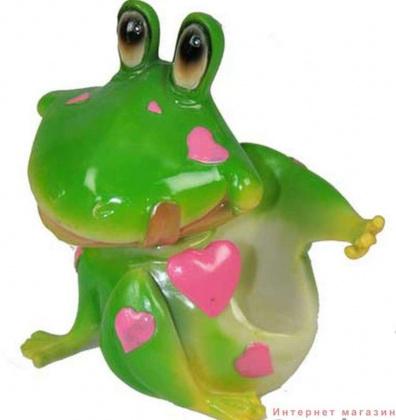 Корпоративные подарки офисные Подставка под мобильный телефон {amp}quot;Влюбленный лягушонок{amp}quot; 12 см