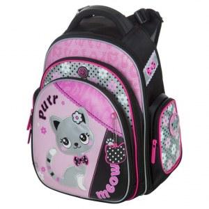 4bc56fa45f17 Школьный ортопедический рюкзак Hummingbird для девочек TK38 с мешком для  обуви розовый